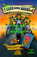 Corn Nuts: Ranch: Corn Gone Wrong: Biker Gang Print Ad