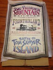 Disney, Frontierland Attractions Wall Sign 30'' H x 21'' W - Walt Disney World