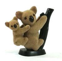 Koala & Baby Figurine Felted Vintage Hong Kong Miniature 451DA