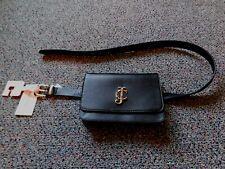 JUICY COUTURE Belt Bag Fanny Pack Black M L Signature Buckle New