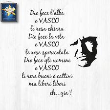Adesivo Wall Sticker VASCO ROSSI immagine piu' frese, liberi liberi, eh gia'