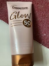 NEW Coppertone Glow Sunscreen Lotion with Shimmer Broad Spectrum SPF 50, 5oz