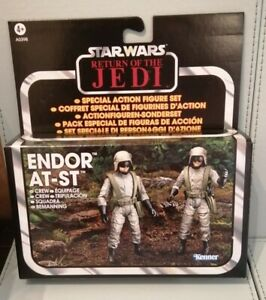 Star Wars Vintage Collection ENDOR AT-ST CREW. RARE. By Kenner 2012. TWIN PACK.