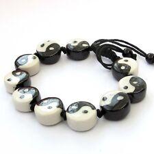 Porcelain Taiji Yin-Yang Tibet Buddhist Prayer Beads Mala Bracelet