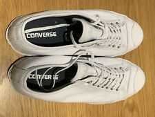 Converse Jack Purcell Leather Uppers Trainers In White Size 10 1/2