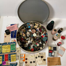 Mixed Lot Of Sewing Supplies - Needles, Buttons, Thread, Etc.