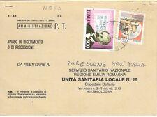 11030 - STORIA ITALIA 1983 - DE SANCTIS - AVVISO RICEV.IMENTO.- VEDI  FOTO