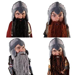 Beard Head Barbarian Warrior Dwarf Gimli Knit Ski Full Beard Mask & Beanie Hat