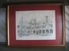 Vintage St Andrews School 266/300 Print Lithograph Signed by Bulent Atalay 1983