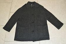 BURBERRY BRIT gris boutonné laine trench-coat femme taille UK 8 10/6 US