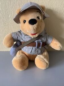 Winnie The Pooh Safari Bear Walt Disney World Soft Plush Toy Collectible 053149