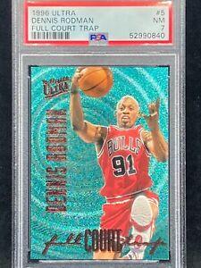 1996 Ultra DENNIS RODMAN Full Court Trap #5 PSA 7 Chicago Bulls