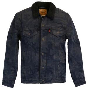 Levi's® Type 3 Sherpa Jacket Camo JT - Gr. M - Camouflage gefüttert Jeansjacke