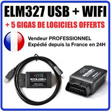 Interface DIAGNOSTIQUE ELM327 USB + WIFI - MULTIMARQUES - IPHONE ANDROID AUTOCOM