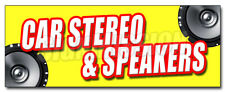 CAR STEREO & SPEAKERS DECAL sticker mp3 installation service amplifers