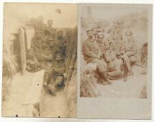 2 x Foto AK - Soldaten im Schützengraben - 1.WK