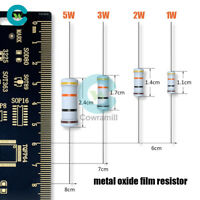50/100PCS 1/2/3/5W 10K 1M22K5.1K Metal Oxide Film Resistor 1Ω to 1MΩ/Ohm ±5%