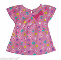 Bambini Girls' Pink Floral Top 3 6 9 12 18 24 months 100% cotton