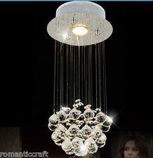 "Modern Contemporary Chandelier ""Rain Drop"" Fixture Lighting Crystal High Foyer"