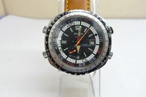 (RARE) Vintage Sicura 17 Jewels Chrono Computer Men Wristwatch