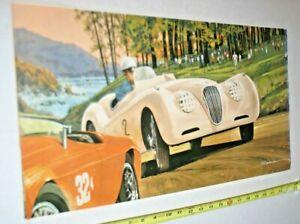 J.B. DENEEN JAGUAR XK 120 Print, RARE!! PART OF TRW series of 1975 13 X 24
