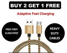 Braided USB A 2.0 to Micro USB B 2.0 Short Samsung Fast Adapter/Charger Cable