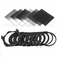 New For Cokin Filter Set P Series 6pcs ND2 ND4 ND8 + 9pcs Adapter Ring