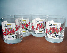 Lenox Big Slick Poker Shot Glasses Set Of 4 King & Ace Cards COA Collectible New