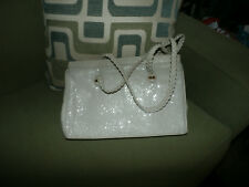 Vintage Chainmail Beige Metal Mesh Purse Handbag