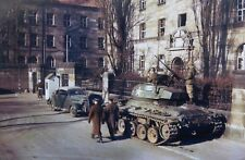 WWII photo American tank M24 Chaffi at the Palace of Justice in Nurember war/17h