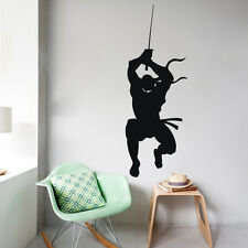 Wall Decals Ninja Fighter Warrior Samurai Swords Vinyl Sticker Dorm Decor kk547