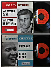 BOBBY RYDELL & CHUBBY CHECKER FRENCH 45 PS 7 EP *WILDWOOD DAYS /  BIRDLAND*