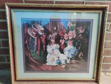 Home Interiors Vintage Doll Picture By D. Giacomo