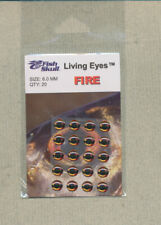 Fish Skull - Living Eyes - 6.0 mm - fire  quantity 20     FS-LE-F6