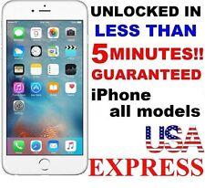 PREMIUM SPEED FACTORY UNLOCK SERVICE - AT&T - APPLE IPHONE 6S 6+ 6 5S 5C 5 4S 4