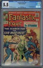 CGC 5.5 FANTASTIC FOUR #27 EARLY 1ST DOCTOR STRANGE CROSSOVER OW/WHITE PAGES