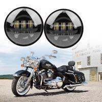 "2x 4.5"" LED Nebelscheinwerfer Zusatzscheinwerfer Tagfahrlicht für Harley 12V 24V"