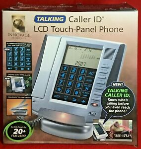 Innovage Cord Phone Talking Caller ID LCD Touch-Panel Land Line 20+ Features NEW