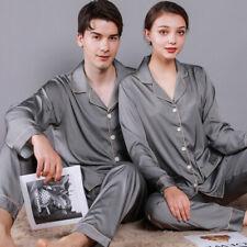 Men Women Silk Satin Pajamas Sets Sleepwear Loungewear Nightwear Bathrobe