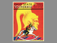 Classic OHIO STATE BUCKEYES FOOTBALL vs. USC 1938 Program Cover WALL POSTER