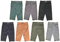 "Mens 3/4 Shorts Three Quarter Length Cotton Twill Chino Style 30"" to 40"" Waist"