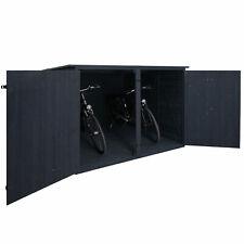 B-Ware 2er-Fahrradgarage MCW-H60 Fahrradbox abschließbar 151x200x200cm anthrazit
