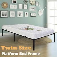 Twin Size Platform Bed Frame Heavy Duty Mattress Platform Folding Steel Base