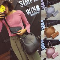 Women's Leather Handbag Tote Purse CrossBody Messenger Shoulder Bag+Clutch Bags