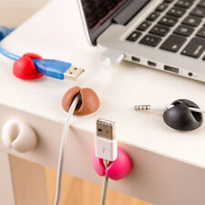6X Cable Drop Clip Desk Tidy Organiser Wire Cord Lead USB Charger Holder Fixer