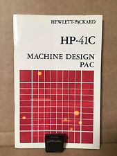 HP-41 Machine Design Module And Manual For 41C 41CV 41CX Calculator - MINT