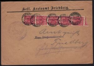 """GERMANY 1922 domestic COVER """"Friedberd""""@D1817H"""