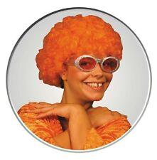 Perruque Afro orange Pop frisée [830107org] fetes carnaval deguisement costume