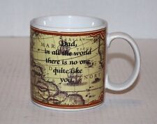 """RUSS """"Dad, in all the world there is no one quite like you"""" Map Coffee Cup Mug"""