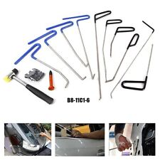 10× PDR Tools Push Rods Car Body Paintless Dent Repair Hail Removal Tap Down Set